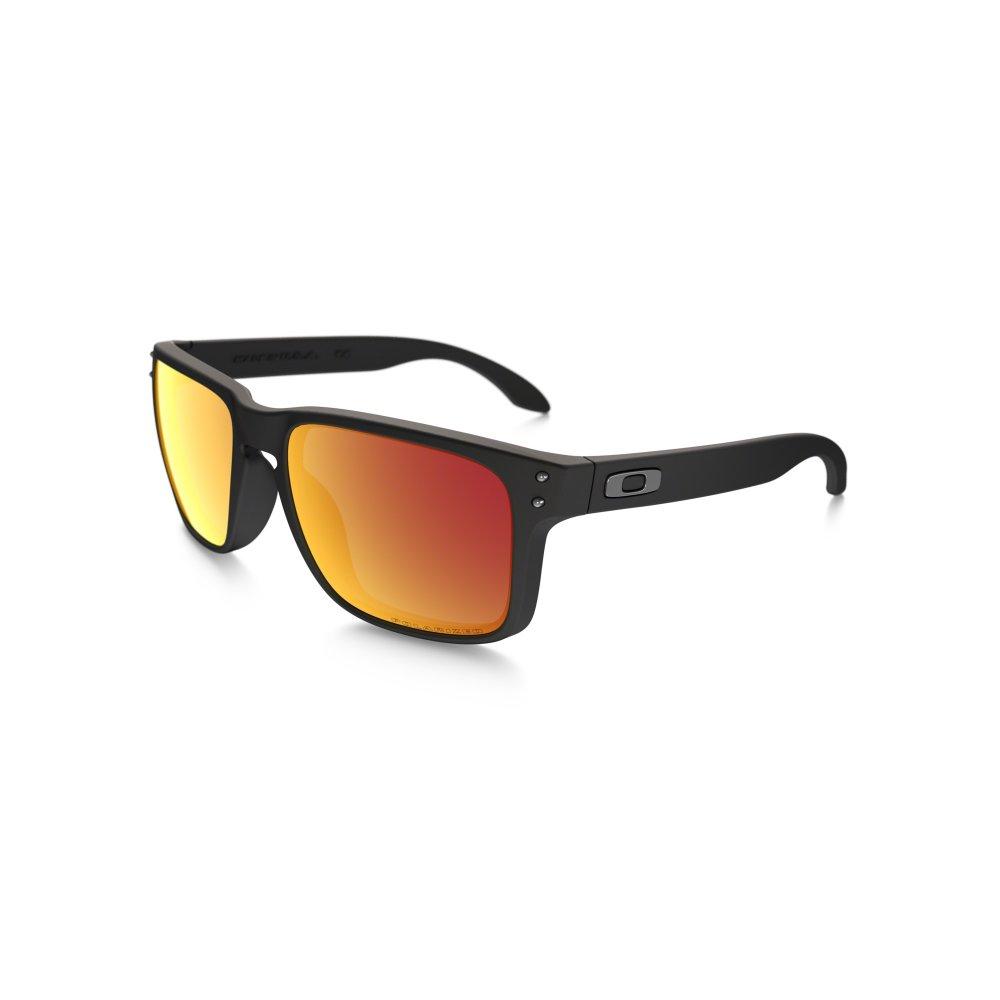 Oakley HOLBROOK Sonnenbrille Matte Black / Ruby Iridium Polarized tubxtXqiNI