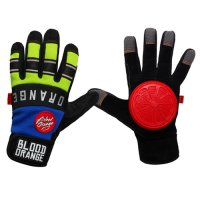 Blood Orange THE KNUCKLES Slide Gloves Blue Neon