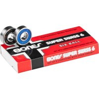 Bones Super Swiss 6 Balls Longboard Bearings (Satz)