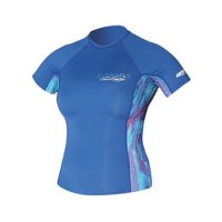 C-Skins Lycra Rash Vest Short Woman Kurzarm Blue