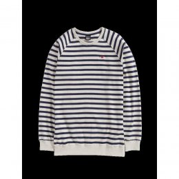 Cleptomanicx Crewneck Classic Stripe 2 Pullover Heather...
