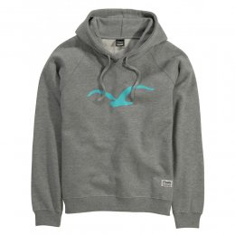 Cleptomanicx Hooded Möwe 3 Heather Gray/ Deep Teal