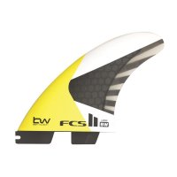 FCS 2 Athlete Series BW PC Carbon Large Tri Fin Set (L)