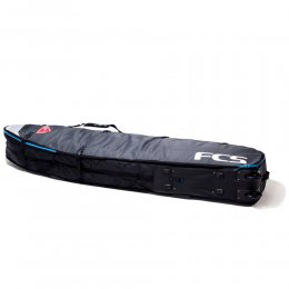 FCS Boardbag TRAVEL DOUBLE WHEELIE 92 Longboard Grey