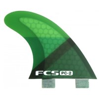 FCS PC-2 Tri Fin Set Green (XS)