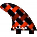 FCS PC-3 RED GRAPHIC Tri Fin Set (S)