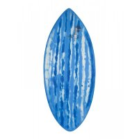 HW-Shapes Waveskim EPOXYART White Blue Skimboard READY TO GO