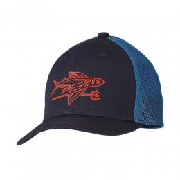 Patagonia KS Trucker Hat Geodesic Flying Fish Navy Blue