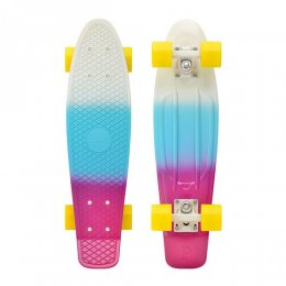 "Penny FADER SERIES 22"" Skateboard White/Blue/Purple"