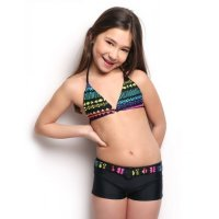 Sun Project Kids Bikini Neon Shorts