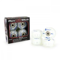 Sunset FLARE LED Street WHEELS (4er Set) 54mm/ 90a Blau