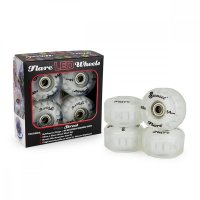 Sunset FLARE LED Street WHEELS (4er Set) 54mm/ 90a Weiß