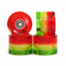 Sunset FLARE LED Street WHEELS (4er Set) 59mm/ 78a 3...