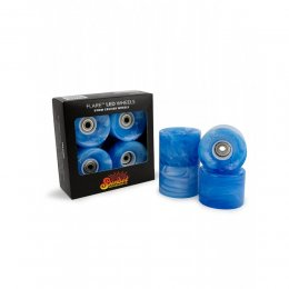 Sunset FLARE LED Street WHEELS (4er Set) 59mm/ 78a Blue...