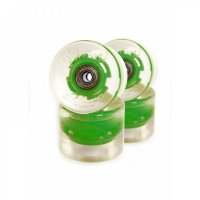 Sunset FLARE LED Street WHEELS (4er Set) 59mm/ 78a Grün