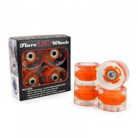 Sunset FLARE LED Street WHEELS (4er Set) 59mm/ 78a Orange
