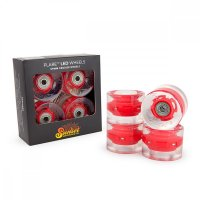 Sunset FLARE LED Street WHEELS (4er Set) 59mm/ 78a Red