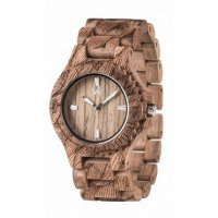 Wewood Date Echtholzuhr Waves Nut Rough