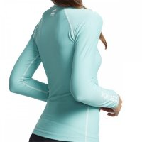Billabong Lycra Logo In LS Langarm Sea Foam