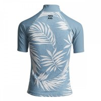 Billabong Lycra Surf Capsule SS Kurzarm Sea Blue