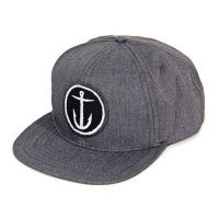 Captain Fin Original Anchor 6 Panel Cap Light Grey