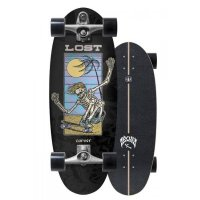 Carver X Lost  Beanbag Surfskate Complete 28 C7 Raw
