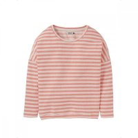 Cleptomanicx Sweater Henni Stripe Coral