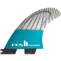 FCS 2 Performer PC Carbon Teal Tri Fins (L)