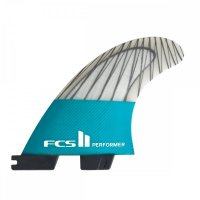 FCS 2 Performer PC Carbon Teal Tri Fins (S)