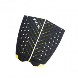 FCS Tail Pad T-2 Surf Traction Black Taxi Cab Yellow