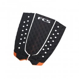 FCS Tail Pad T-3 Surf Traction Black Burnt Orange