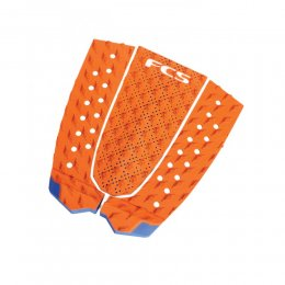 FCS Tail Pad T-3 Surf Traction Burnt Orange Blue