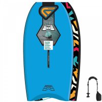 FLOOD Bodyboard Dynamx Stringer 37 Blau Tribal