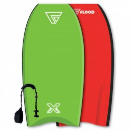 FLOOD Bodyboard Dynamx Stringer 41 Lime-Rot