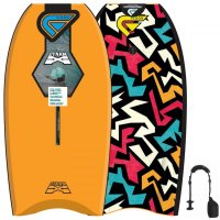 FLOOD Bodyboard Dynamx Stringer 40 Orange Tribal
