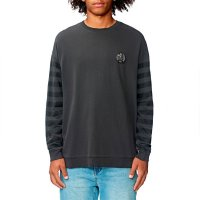Globe Carrier Crewneck Sweater Washed Black