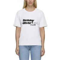 HW-Shapes Mommy Surfs Organic Shirt White