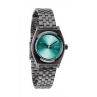 NIXON SMALL TIME TELLER Gunmetal / Light Blue