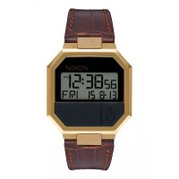 Nixon RE-RUN Leather Fashionuhr Brown Croc