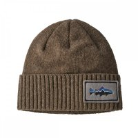 Patagonia Brodeo Beanie Fritz Roy Trout Patch Ash Tan