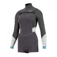 Prolimit Pure Girl Sunset Fire Shorty Frontzip 3/2 Black...