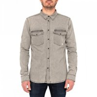 Pullin Unisex Jeans Shirt Mercury Grey Washed