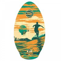 Skimboard SLIDZ 37  95cm Waikiki Orange Grün