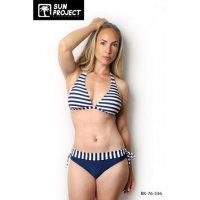 Sun Project Bikini Maritim Stipes Triangle Navy