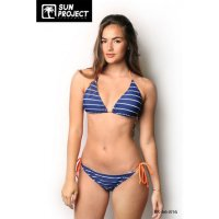 Sun Project Bikini Triangles Ficelles Stipes...