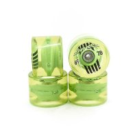 Sunset FLARE LED WHEELS (4er Set) 69mm/ 78a Green