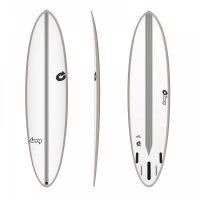 Surfboard TORQ Epoxy TEC Chopper 6.10 Rail Stone