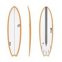 Surfboard TORQ Epoxy TET CS 6.3 Fish Carbon Orange