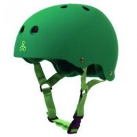 Triple 8 BRAINSAVER Skatehelm Kelly Green/Rubber