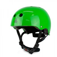 Triple 8 LIL8 verstellbarer Kinder-Skatehelm Green/ Gloss